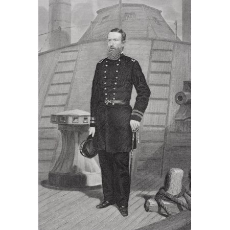 David Dixon Porter 1813 1891 American Admiral In Union Navy During Civil War From Painting By Alonzo Chappel Canvas Art   Ken Welsh  Design Pics  22 X 34