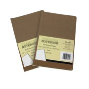 B-THERE Premium Journal - Dot Grid Pages, Kraft Cover 5in x 8in. 96 Preforated Pages w/Dotted Grid (2 Notebooks)