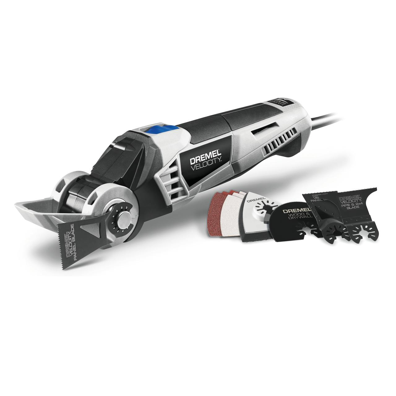 Dremel Vc60-01 Velocity 7.0 Amp Corded 2-Position Oscillating Tool Kit, 10 Accessories