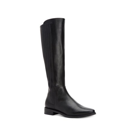 Calvin Klein Womens Finley Leather Closed Toe Knee High Fashion Boots