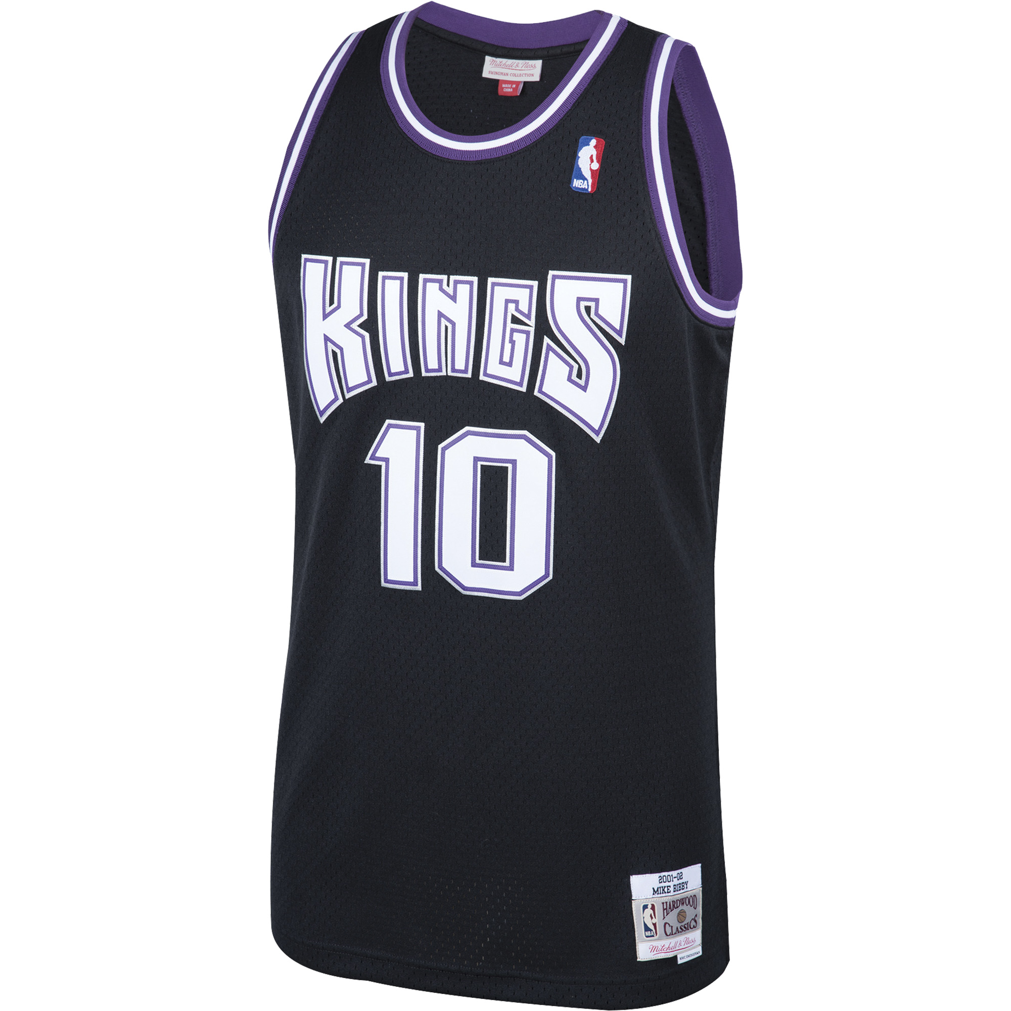1b16188f1 Mike Bibby Sacramento Kings Mitchell   Ness 2001-02 Hardwood Classics  Swingman Jersey - Black - Walmart.com
