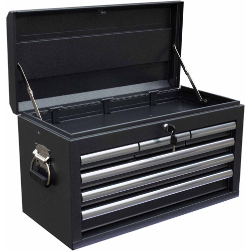 "WEN 26"" 6-Drawer Tool Chest, Silver/Black"