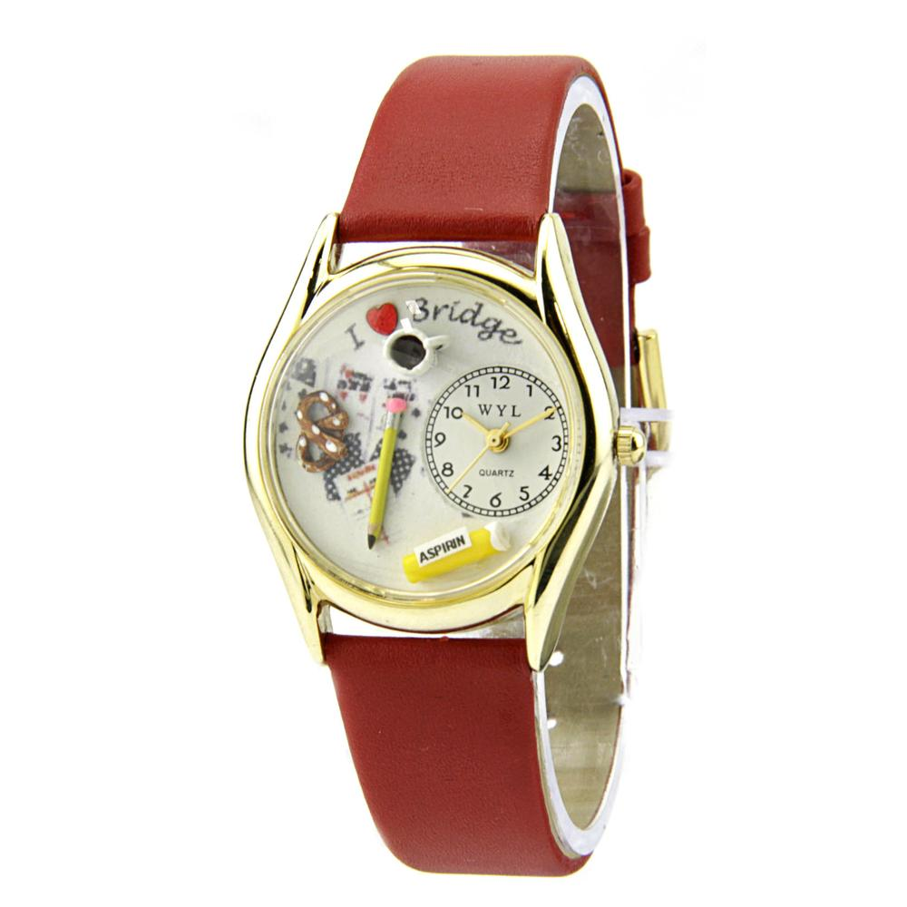 Whimsical Bridge Stainless Steel Red Women Watch