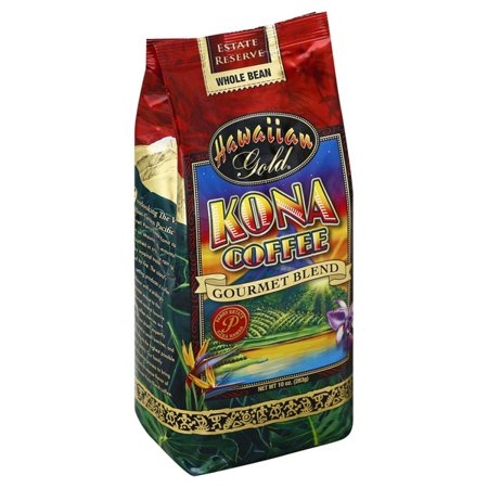 Hawaiian Gold Kona Whole Bean Coffee, 10 oz (Pack of (Top 10 Most Expensive Coffee In The World)