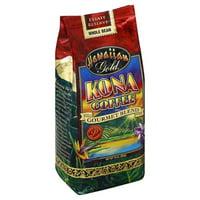 Hawaiian Gold Kona Whole Bean Coffee, 10 oz (Pack of 6)