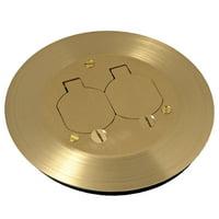 "RACO RAC5500KIT Floor Box Cover,Round,2-1/4"" L,Brass"