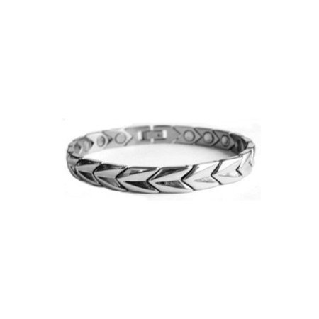 Arrows Unisex Stainless Steel Link Magnetic Bracelet With Powerful Magnets For Men & Women