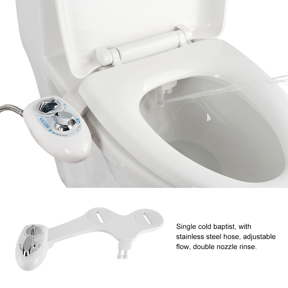 Non Electric Mechanical Bidet Toilet Seat Attachment With Self Cleaning Nozzles Fresh Water Dual Spray Cold Water Walmart Com Walmart Com
