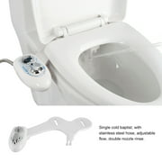Non-Electric Mechanical Bidet Toilet Seat Attachment with Self Cleaning Nozzles Fresh Water Dual Spray Cold Water
