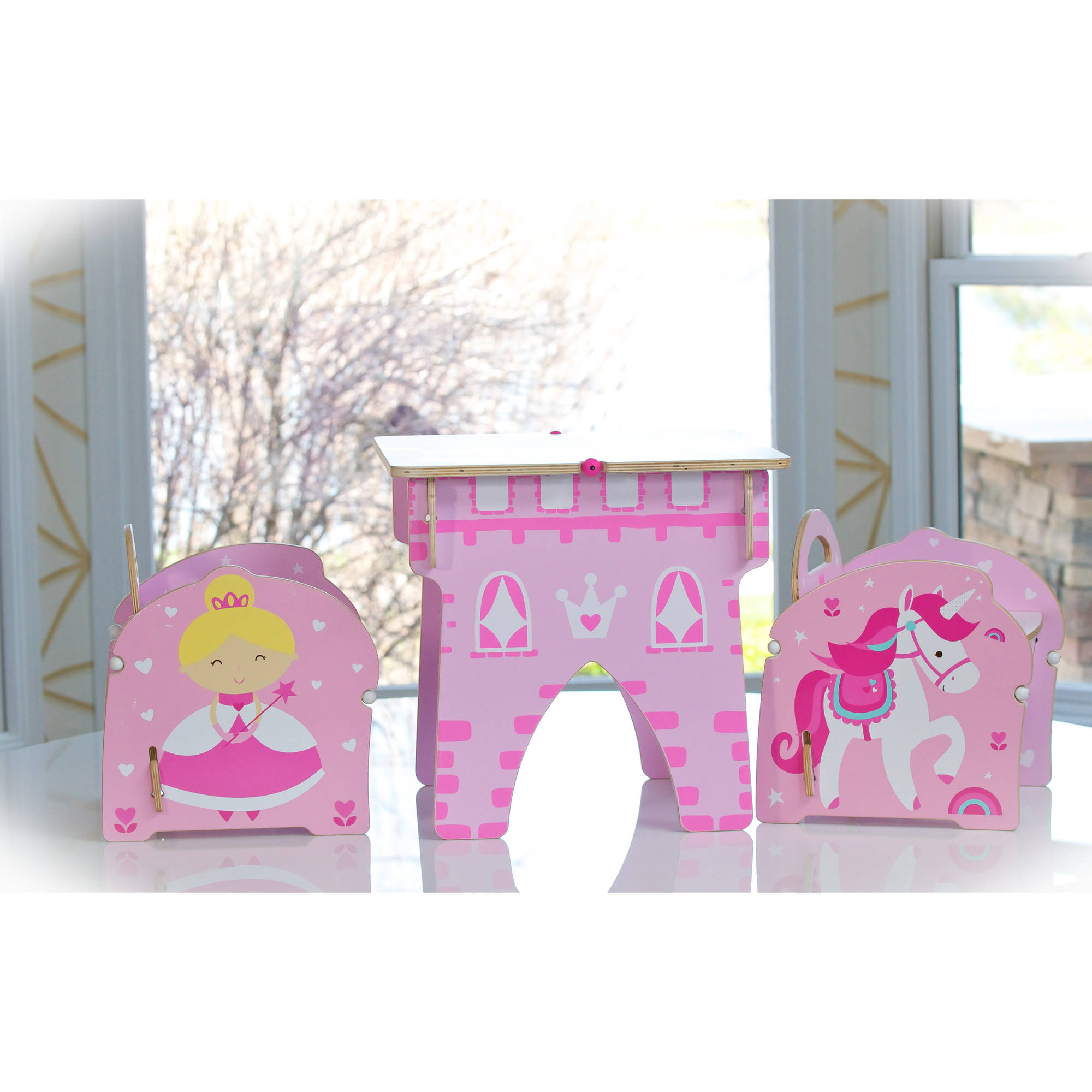 Buildex Princess Castle Kids Table and Chairs Set