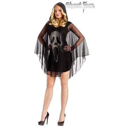 Adult Scream Queen Ghost Face Poncho Costume Horror Halloween Small Medium 2-8 - image 1 of 1
