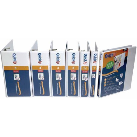 Stride QuickFit Vinyl Non-Locking D-Ring View Binder, 8-1/2 x 11 Inches,