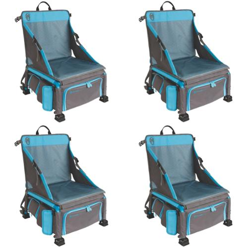 Coleman Treklite Plus 2-in-1 12 Can Cooler Backpack and Chair, Blue (4-Pack)