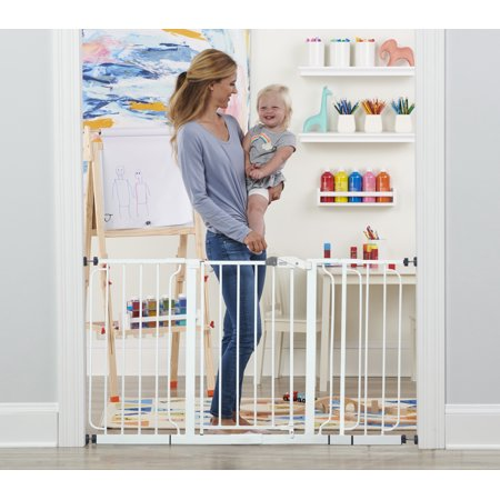 Regalo Extra WideSpan 56-Inch Walk Through Baby Safety Gate, Includes 4 Pack of Wall (Best Electric Gate System)