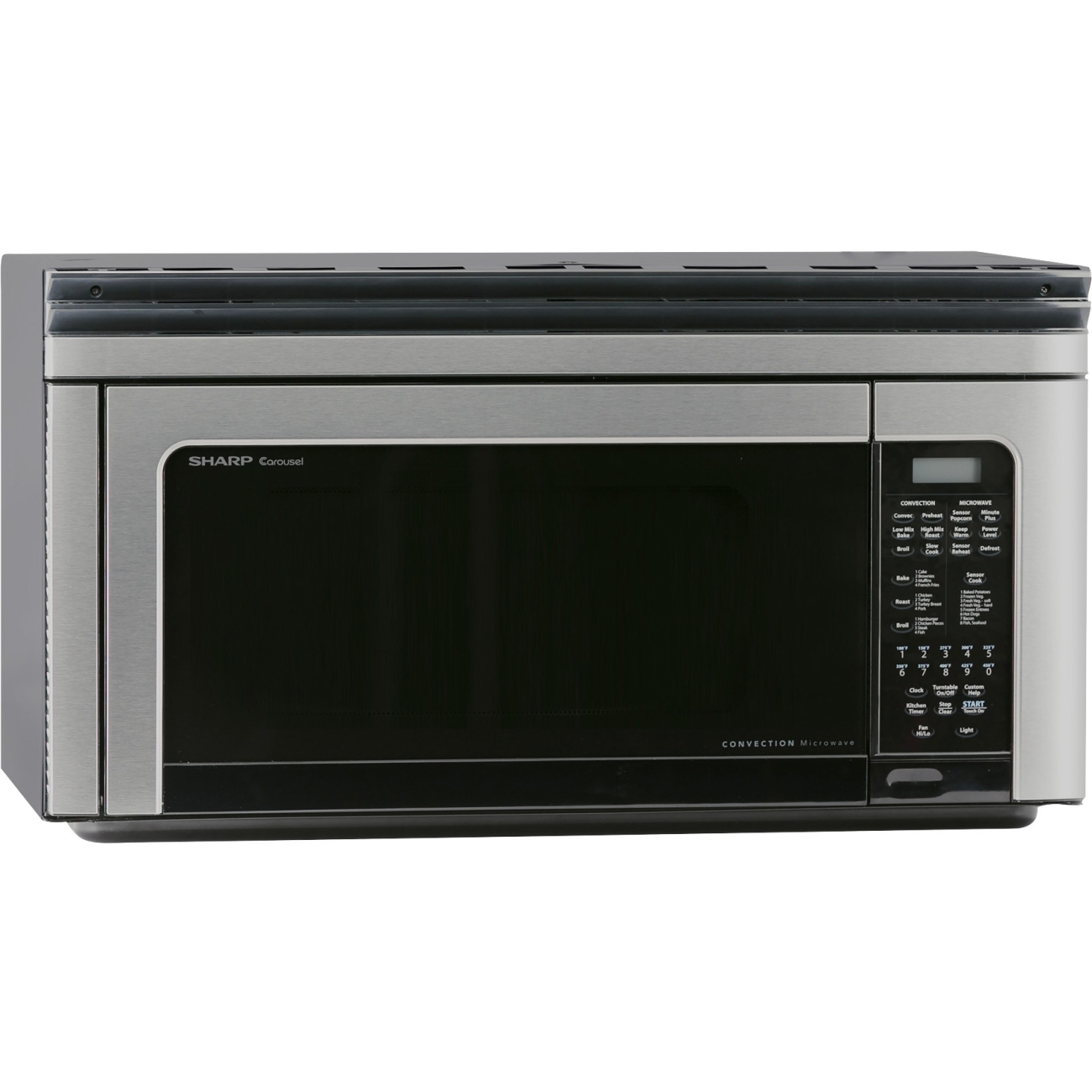 Sharp R1881LSY 1.1 Cf 850 Watt Otr Convection Microwave; Stainless