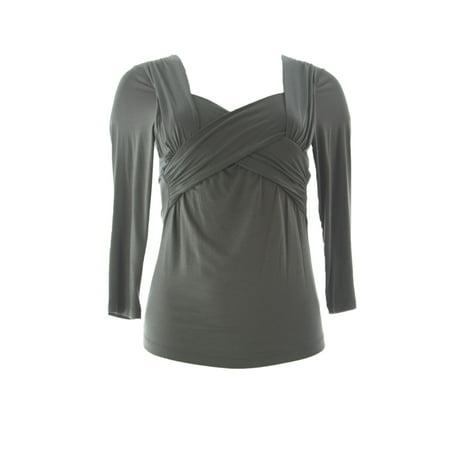 VELVET by Graham & Spencer Women's Criss Cross Front Blouse Small (Shingle Apparel)
