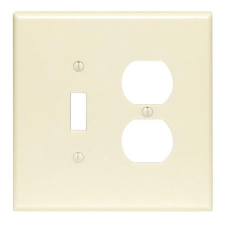 Leviton 86005 2 Gang 1 Toggle 1 Duplex Device Combination Wallplate St