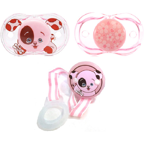 RazBaby - Keep-It-Kleen Pacifier and Holder Bundle Gift Set, Girl