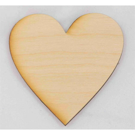 3 Inch Rubber Heart - Package Of 10, 3 Inch X 1/8
