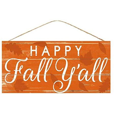 Halloween Decorating Ideas For Classroom Doors (Happy Fall Y'all Welcome Sign - 12.5 x 6