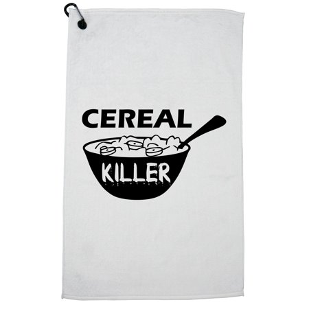 Cereal Killers (Cereal Killer - Hilarious Play on Words Breakfast Graphic Golf Towel with Carabiner)