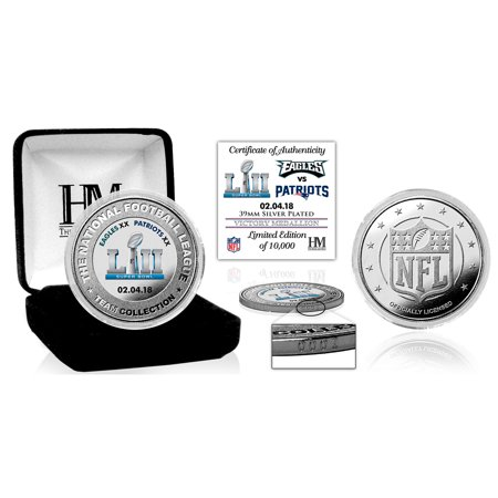 Philadelphia Eagles Highland Mint Super Bowl LII Champions 39mm Victory Silver Color Coin - No Size