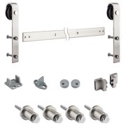 "National Hardware N186-960 72"" X 6"" Oil Rubbed Bronze Decorative Interior Sliding Door Hardware Kit"