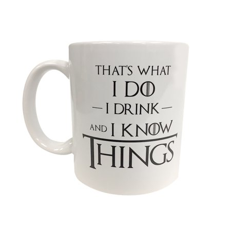 That's What I Do I Drink And I Know Things Coffee Mug Game Of Thrones Tyrion](Coffee Halloween Drinks)