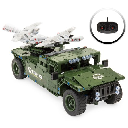 - Best Choice Products 453-Piece Kids RC Electronic Military Tank and Airplane Building Block Brick Set Toy w/ Remote