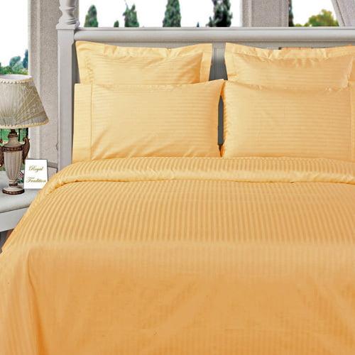 Luxury Sateen Stripe Pattern Super Soft 100% Microfiber Sheet sets Wrinkle-free Stain Set