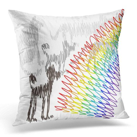 - CMFUN Condolence Funeral for Pet with Rainbow Bridge and Spirits of Cats and Dogs Afterlife Pillows case 18x18 Inches Home Decor Sofa Cushion Cover
