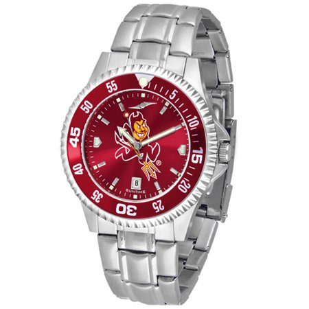 "Arizona State Sun Devils NCAA Anochrome ""Competitor"" Mens Watch (Color Bezel)"