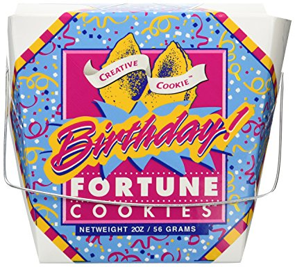 Happy Birthday Fortune Cookies – Unique Gourmet Gift - Kosher Certified Birthday Gourmet Dinner Gift