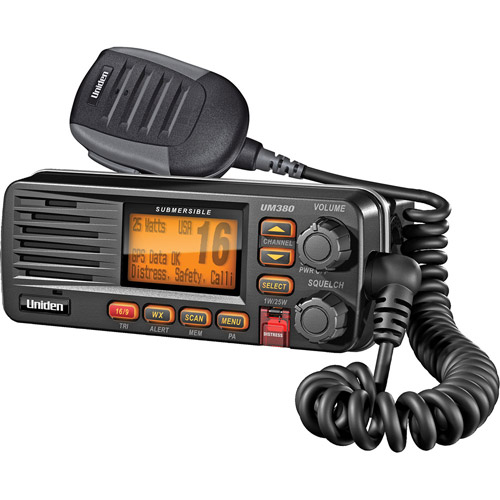 Uniden UM380BK Fixed Mount VHF Radio, Black