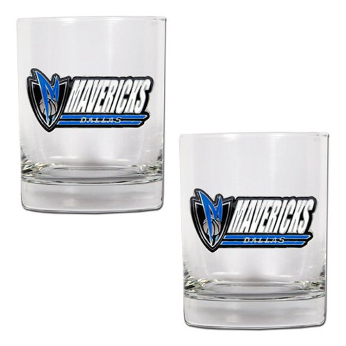 NBA - Dallas Mavericks 2pc. Rocks Glass Set