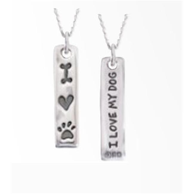 Rockinft Doggie 844587017965 Sterling Silver Charm I Love my Dog Tablet