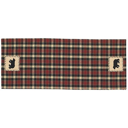 concord bear patch 36 inch table runner ()