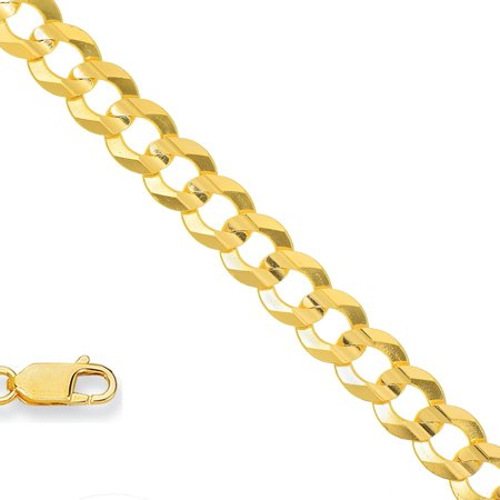 10k Solid Yellow Gold 2.8 mm Comfort Curb Chain Necklace 16