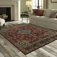 Deals on Mainstays Rustic Multi Persian Medallion Print Area Rug