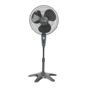 "Honeywell Quietset 16"" Whole Room Stand 5-Speed Fan, Model #HS-1655, Black with Remote"