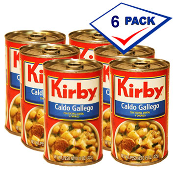 Kirby Caldo Gallego 15 oz each. Pack of 6