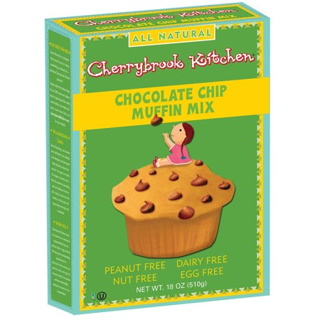 cherrybrook kitchen chocolate chip muffin mix peanut free 18oz