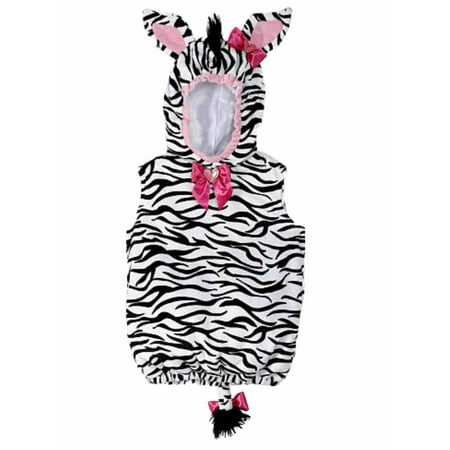 Koala Kids Infant Girl Plush Black White Stripe Baby Zebra Costume Hoodie