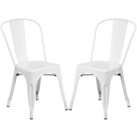 A Line Furniture White Metal Bistro-style Chair ()