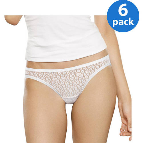 Fruit of the Loom Ladies' 6pk Lace Bikinis