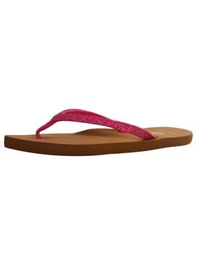 Women's Lightweight Boho Beach Design Comfort Flip Flop Sandals, Fuchsia, 7