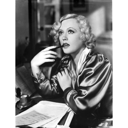Photo Pen (Marion Davies posed Bitting A Pen in Black and White Photo)