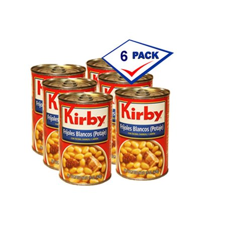Kirby White Bean Pottage 15 oz each. Pack of 6 (Navy Beans)