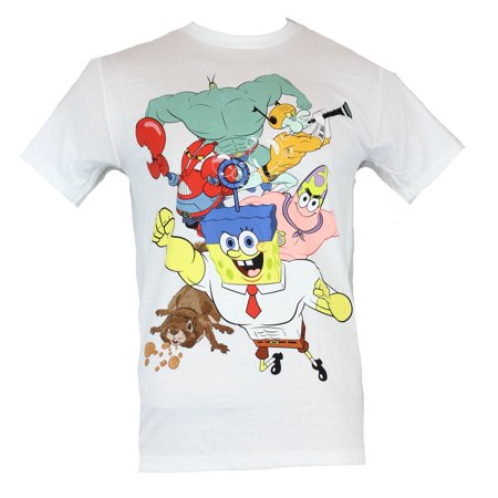 Spongebob Squarepants Pjs (Spongebob Squarepants Mens T-Shirt - Cast In Dynamic Super Poses)