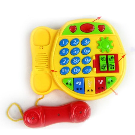 Cartoon Buttons Phone Educational Intelligence Developmental Toy Gift - image 1 of 6